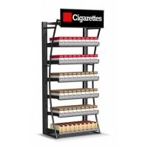 Retail Cigarette Display Stand , Smoke Shop Wall Hanging Display Case