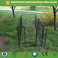 Buy cheap 6'H x 4'W x 8'L Black Powder Coated Welded Wire Mesh Dog Kennel/Dog Cage from Wholesalers