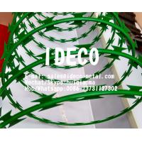 Buy cheap BTO-22 PVC Powder Coated Barbed Razor Concertina Wires, Colored Razor Blade Concertina Coils product
