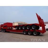 China 5 Axles Low bed Trailer with 80 tons trailer to carry construction equipment for sale on sale