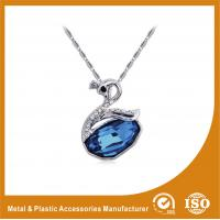 China Blue Crystal Goose Rhinestone Chain Necklace , Fashion Jewelry Necklace on sale