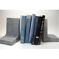 Buy cheap Right Angle Concrete Bookends Light Grey For Office Decoration product