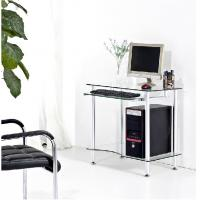Tempered Contemporary Glass Space Saving Computer Desk For Small Room
