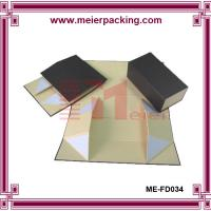Buy cheap Magnetic Rigid Cardboard Black Folding Packaging Box, Flat Pack Jewelry Box ME-FD034 product