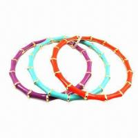 Buy cheap Multicolor in Triple Bamboo Bracelets with Enamel product