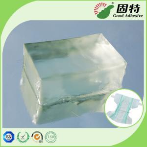 Buy cheap Light Transparent Block Baby Diaper Industrial PSA Hot Melt Adhesivenapkin, baby paper diaper and sanitary mat. product
