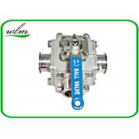 Sanitary Full Bore Ball Valve Clamp / Thread / Weld / Flange 3 Way , Non Retention