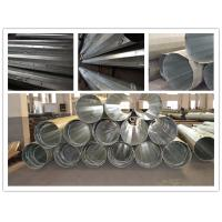 15m tapered conical steel transmission poles electric telescoping pole of steelpowerpole