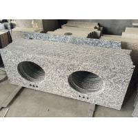 Buy cheap Tiger Skin White Double Sink Granite Vanity Top Low Water Absorption product