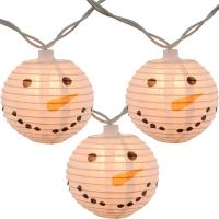 Buy cheap Led Paper Lanterns Hanging Outdoor String Lights 8 Cm Square Snowman Shaped product