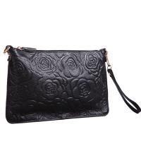 Buy cheap Wholesale On Line Flowers Black Leather Clutch Bag for Women product