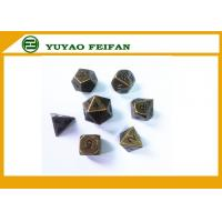 Buy cheap Deluxe Metal Golden Polyhedral Game Dice Sets Golden RPG Game Dice Poker Accessories product