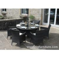 China Household Outdoor Furnitures Dining Set for Garden With Parasol Hole , Dining Tables and Chairs on sale