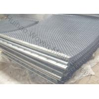 Black Wire Steel Mesh Screen , Vibrating Screen Cloth For Aggregate Screens