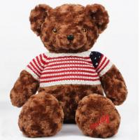 China Dark Brown Teddy Bear Personalized Plush Toys Customers Option Function on sale