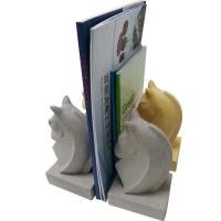 Buy cheap Animal Shape Decorative Concrete Bookends Yellow , White Painting product