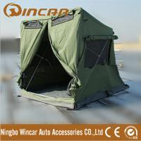 China Quick open tent with awning pitch 280G canvas 30 seconds easy set up waterproof ground tent 4 X 4 breathable car tent on sale