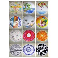 Buy cheap 2016 new design Fashion custom printed outdoor mat round beach towels product