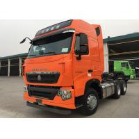 Buy cheap SINOTRUK HOWO T7H MAN Engine Tractor Truck 6X4 Euro 3 / 4 440 HP ZZ4257V324HD1B product