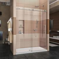 Buy cheap Sliding All Tempered Glass Shower Enclosure With Stainless Steel Handle product