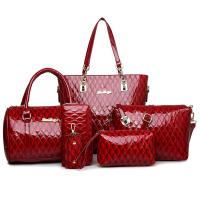 Buy cheap Women set bag pu leather handbags for women 5 pieces 1 set glimmering material nice looking women handbag shoulder bag w product