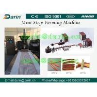 Buy cheap Stanless Steel 304 type Pet Food Manufacturing Equipment , Meat Strip Processing Line product