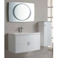 quality wall mounted high gloss white color pvc bathroom cabinets for