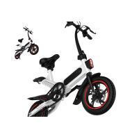 Buy cheap High Load Ability Small Folding Electric Bike White / Black / Red Ergonomics Design product