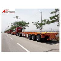 Buy cheap 65T Payload Tipping Skeletal Trailers , Q345B Steel Sliding Skeletal Trailer product
