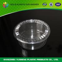 China FDA Microwavable Disposable Food Containers Transparent Round Disposable Food Packaging on sale