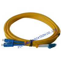 China SC To LC SM Optical Fiber Patch Cord 9/125 Single Mode 3.0mm For WAN Systems on sale