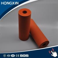 Buy cheap Custom Red Color Aluminum Core Silicone Rubber Coating Rollers product