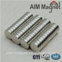 Buy cheap 10mm dia x 0.6mm thick permanent magnet /n52 neodymium magnet product