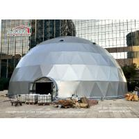 Buy cheap 20m Diameter Geodesic Dome Tents With Silver Grey Cover And Glass Door For Events from wholesalers