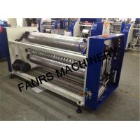 Non Woven Fabrics Rewinding And Slitting Machine With Automatic Perforating Setting System