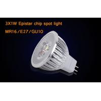 Buy cheap Dimmable MR16 3 * 1W  LED Spotlight Bulbs With Epistar , Warm White LED Light product