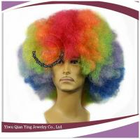 Quality 2018 cheapest world cup  sports fan wig synthetic big afro party wigs for sale