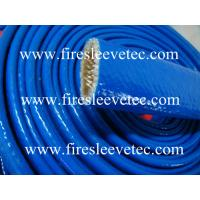 China heat resistant silicone rubber fiberglass sleeve on sale