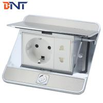 Buy cheap EU plug silver pop up type floor socket box product