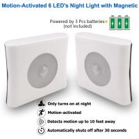 China ABS Plastic LED Sensor Night Light Motion Activated High Performance For Bedroom Toilet on sale