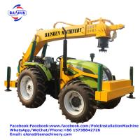 Buy cheap Electric Power Excavator Post Hole Borer / Hydraulic Tractor Earth Auger from wholesalers