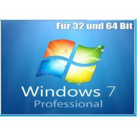 Buy cheap OEM Version Windows 7 Softwares Pack With Key Code Original Microsoft 32 / 64 bits product