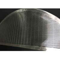 Buy cheap Stainless Steel Wedge Wire Screen Filter Element For Filtration / Separation In Juice Production from Wholesalers