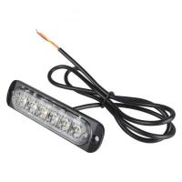 Buy cheap Universal super thin 6-LED Amber/White Flashing Mode Car Truck Warning Caution Emergency Strobe Light product