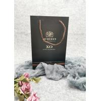 Buy cheap Commercial Strong Custom Printed Paper Wine Bags Luxury Style Customized Size product
