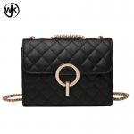 Buy cheap Spring hot sell Korean sling bag handmade leather vintage handbag black color mini crossbody shoulder bag product