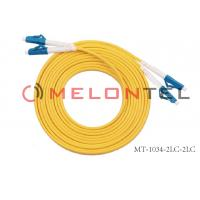 Buy cheap 9/125 LC Optical Fiber Patch Cord Single Mode , 2 Core SC-LC Fiber Optic Cable product