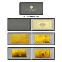 Buy cheap Album polymer 24Karat gold foil banknote book set with leather case product