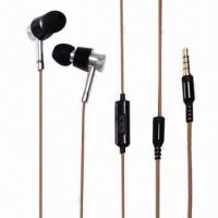 Buy cheap Wired Earpods with 20Hz to 20kHz, 3.5mm Stereo Plug, 10mm Driver and 1.2m Cord Length product