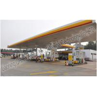 Buy cheap Prefabricated Steel Roof Trusses Shed Building Space Frame Petrol Station Design product